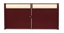 Модульные ограждения Эконом в цвете RAL 3005 красное вино Grand Line в Нижнем Новгороде Ворота